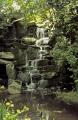 waterfalls virginia water near bagshot surrey. london parks capital england english uk landscaped feature cascade man-made man made manmade tumbling surrey great britain united kingdom british