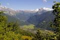french alps looking samoens valley tete ane ridge distant mont blanc. landscapes european travel haute-savoie haute savoie hautesavoie glacier snow line grand massif alpine rhône-alpes rhône alpes rhônealpes france la francia frankreich europe