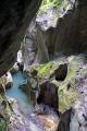 haute-savoie haute savoie hautesavoie region france. french landscapes european travel chasm river dranse morzine defile marble erosion cliffs devils bridge alpine rhône-alpes rhône alpes rhônealpes france la francia frankreich europe