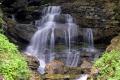 long exposure unnamed roadside waterfall near morzine french alps landscapes european travel silken cascade haute-savoie haute savoie hautesavoie stream encrenaz le roc enfer alpine rhône-alpes rhône alpes rhônealpes france la francia frankreich europe