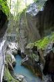 gorges du pont diable france. french landscapes european travel chasm river dranse morzine defile marble erosion cliffs devils bridge alpine rhône-alpes rhône alpes rhônealpes france la francia frankreich europe