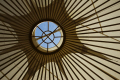 inside yurt looking sky abstracts misc. poles wood tent canvas pattern isle man manx england english great britain united kingdom british