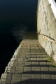 steps leading clear water harbour castletown harbor uk coastline coastal environmental manx iom step sea united kingdom british