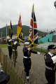 flags war memorial tynwald day 2008 uk memorials military militaries dead memory legion british isle man manx england english great britain united kingdom