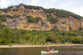 river dordogne la roque-gageac roque gageac roquegageac french landscapes european travel canoe kayak rowing yellow limestone cliffs perigord noir pendoïlles aquitaine france francia frankreich europe
