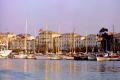 harbour corfu town yachts yachting sailing sailboats boats marine misc. marina quay port colonial sunset twilight evening greece europe european greek