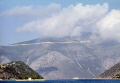 island ithaca looking north port vathi. greek european travel odysseus homer kefalonia ithaki ionian greece isle europe