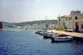 port gaios island paxos greece greek european travel quay ionian sea corfu harbour channel fishing sailing boat caiques europe