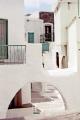island ios confusion arches steps doorways. aegean cyclades greece greek whitewash adobi chora europe european