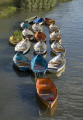 colourful rowing boats moored river thames near richmond bridge london. rowboats marine misc. brit britain british capital chocolate box city scape cityscape colorful england english europe great holiday landscape leisure london peaceful photogenic picturesque pleasure restful richm cockney united kingdom