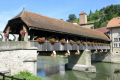 pont du berne fribourg swiss suisse european travel wooden bridge switzerland schweiz europe