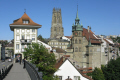 fribourg hotel ville cathedral background. swiss suisse european travel switzerland schweiz europe