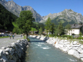engleburger aa alps background. swiss suisse european travel engleburg mountain stream switzerland schweiz europe