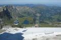 360 degree rotating cable car arrives mount titlis swiss suisse european travel alps mountain panoramic switzerland schweiz europe