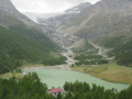 streams trickle glacier mount diavolezza. swiss suisse european travel mountain alps stream switzerland schweiz europe