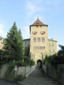 gate tower episcopal courtyard chur. swiss suisse european travel city chur switzerland schweiz europe