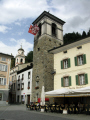 torre comunale main square poschiavo italian speaking town switzerland. swiss suisse european travel switzerland schweiz europe
