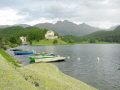 boats lej da san murezzan st. moritz waldhaus hotel background. swiss suisse european travel lake alps switzerland schweiz europe