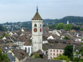 tower kirche st. johann schaffhausen seen town munot fortress. swiss suisse european travel church view switzerland schweiz europe