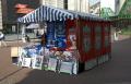 stall street selling liverpool everton football merchandise retailers brands branding uk business commerce market footie red blue kit merseyside scouse england english great britain united kingdom british