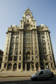 looking liver building clock uk offices architecture british architectural buildings bird insurance icon merseyside scouse england english great britain united kingdom