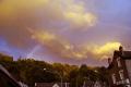 cloudburst tulle france sky natural history nature misc. weather rainbow troposphere meteorology shower storm rain precipitation cumulus correze limousin la francia frankreich europe european french