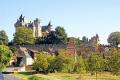 chateau montfort périgord noir french châteaus european travel simon aquitaine yellow limestone cliffs mediaeval medaeval perigord correze limousin france la francia frankreich europe