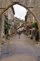 rocamadour main street french buildings european travel medaeval mediaeval pilgrimage penitant religious catholic church chapel santiago compostela lot midi-pyrenees midi pyrenees midipyrenees france la francia frankreich europe