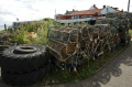 fishing boats lobster pots overstrand near cromer norfolk british beaches coastal coastline shoreline uk environmental fish crabs seaside coast sea food england english great britain united kingdom