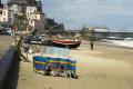beach promenade cromer british beaches coastal coastline shoreline uk environmental seaside people sun windbreaks norfolk england english great britain united kingdom