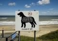 clean sign cromer beach norfolk british beaches coastal coastline shoreline uk environmental dog walking pooh mess pick england english great britain united kingdom
