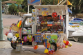mobile toy shop spotted sanary provence. provence cote azur riviera mediterranean south french european travel humorous humourous humour var france bateau provencale jouet three-wheeler three wheeler threewheeler two-stroke two stroke twostroke van sea-side sea side seaside beach provence-alpes-côte provence alpes côte provencealpescôte la francia frankreich europe