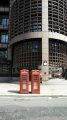 red phone boxes eldon street british architecture architectural buildings uk telephone kiosk box twin city london cockney england english great britain united kingdom