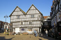 evesham 15th century round house natwest bank half timbered buildings historical uk history british architecture architectural half-timbered half timbered halftimbered elizabethan tudor oak worcestershire england english great britain united kingdom