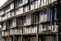 evesham 15th century round house half timbered buildings historical uk history british architecture architectural half-timbered half timbered halftimbered elizabethan tudor oak worcestershire england english great britain united kingdom