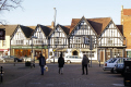 evesham royal oak public house vine street. half timbered buildings historical uk history british architecture architectural half-timbered half timbered halftimbered elizabethan tudor worcestershire england english great britain united kingdom