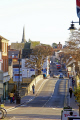 evesham looking east river avon port street uk towns environmental bridge church worcestershire england english great britain united kingdom british