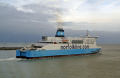 norfolk line ferry maersk dover leaving harbour harbor uk coastline coastal environmental shipping boat english channel le manche port docks kent england great britain united kingdom british