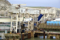 loading ramps dover east docks harbour harbor uk coastline coastal environmental english channel le manche port white cliffs kent england great britain united kingdom british