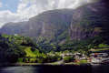 undredal norway aurlandfjord. european travel flam flåm ferry boat sognefjord nutshell showery cloudy kongeriket norge europe norwegan