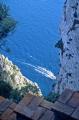 view clifftops near villa tiberio island capri. southern italy italian european travel azure blue vertical precipitous campania italia naples napoli tiberius roman capri italien italie europe