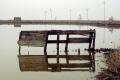 ghost town drawbridge reflections salt pool california american yankee travel tumble-down tumble down tumbledown ramshackle ruined rotten delapidated run-down run down rundown abandoned pond fishing leisure californian usa united states america