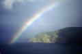 rainbow countisbury head devon sky natural history nature misc. spectrum weather meteorology shower sunshine rain squall devonian england english great britain united kingdom british