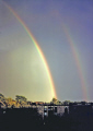 nice double rainbow minneapolis usa sky natural history nature misc. spectrum weather meteorology shower sunshine rain squall minnesota united states america american