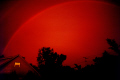 monochrome rainbow red sky natural history nature misc. spectrum weather meteorology shower sunshine rain squall minnesota usa united states america american
