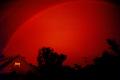 monochrome rainbow red sky natural history nature misc. spectrum weather meteorology shower sunshine rain squall minnesota usa united states america american