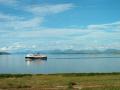 looking mull ferry nevis range pictured craignure isle .scotland transport transportation uk argyll bute argyllshire scotland scottish scotch scots escocia schottland great britain united kingdom british