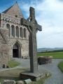 celtic cross outside iona abbey.scotland abbey scotland abbeyscotland uk abbeys churches worship religion christian british architecture architectural buildings abbey argyll bute argyllshire scotland scottish scotch scots escocia schottland great britain united kingdom