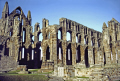 whitby abbey yorkshire. uk abbeys churches worship religion christian british architecture architectural buildings old town yorkshire st mary church sainte hilda captain james cook england english great britain united kingdom