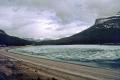 frozen wapta lake near louise bc travel trans-canada trans canada transcanada highway hwy icey shushwap british columbia canada canadian